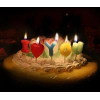 Buy cheap Love Letter Shaped Candles For Valentine's Day , Colorful Letter Birthday Candles from wholesalers