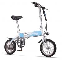 Buy cheap Blue Foldable Electric Bike Adult City Electric Push Bike With Li - Ion Battery from wholesalers