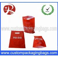 Buy cheap Custom Die Cut Handle Plastic Bags / personalized gift bags Water resistance from wholesalers