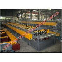 Buy cheap Trapezoid Profile Steel Floor Decking Sheet Manufacturing Machine with Two 11KW Driving Motors from wholesalers