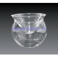 Buy cheap Kitchen Glass Caviar Server , Round Shaped Caviar Plate Plus Bowl For Ice from wholesalers