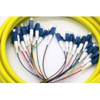 Buy cheap 24 Core Multi Fiber Break Out Cable LC/UPC-LC/UPC Strip on 0.9mm tight buffer from wholesalers