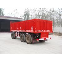 Buy cheap Red Heavy Duty Semi Trailers / 25 Tons Van 3 Axle Trailer With 12.00R20 Triangle Tyre from wholesalers
