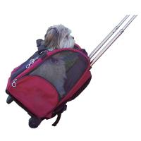 Buy cheap Deluxe Rolling Backpack Pet Carrier with Wheels from wholesalers
