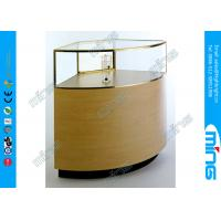 Buy cheap Halogen Light Strip Jewelry Glass Showcase with Laminated Deck from wholesalers
