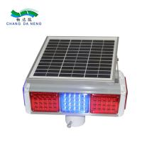 Buy cheap Flashing  solar traffic warning light  LED double side solar strobe traffic lights from wholesalers