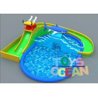 Buy cheap Dragon Slide Shark Design Inflatable Water Pool For Summer Outdoor Aqua Fun from wholesalers