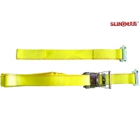 Buy cheap WLL 3335 LBS Polyester Ratchet Straps , Yellow Car Trailer Straps CE Approved from wholesalers