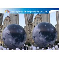 Buy cheap Custom 5m Inflatable Lighting Decoration Lighted Moon Ball For Outdoor product
