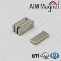 Buy cheap Color-Zinc coated NdFeB square block permanent magnets D10x2.5x0.5mm from wholesalers