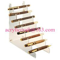 Buy cheap Ladder shape lucite fountain pen rack / acrylic pen holder for various pieces from wholesalers
