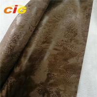Buy cheap Gold Pringted Suede Fabric Sofa Upholstery Fabric Width 145cm Weight 300gsm from wholesalers