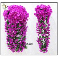 Buy cheap UVG artificial flowers wholesale hanging silk violet wreath for wedding flower arrangements WIS017 from wholesalers