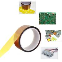 Buy cheap Self Adhesive Tawny Kapton Polyimide Tape , Electric Task Kapton Polyimide Film Tape from wholesalers