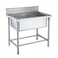 Buy cheap Single / Double / Triple Bowl Commercial Stainless Steel Sinks For Cold / Freezing Room from wholesalers