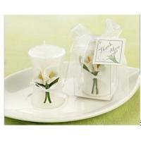 Buy cheap Calla Lily Elegance' Vase Shaped Candle Wedding Favor from wholesalers