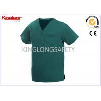 Buy cheap 100% Cotton V Neck Hospital Uniforms , Multi Pocket Medical Scrubs Clothing from wholesalers