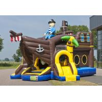China Pirate Ballcanon Lovely Inflatable Combo 2 In 1 Castle Bounce House With Slide on sale