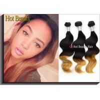 Buy cheap Ombre Colored Human Hair Bundles Body Wave Two Tone Color No Synthetic Hair Mixed from wholesalers