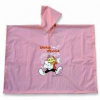 Buy cheap Promotional PEVA Rain Poncho, Customized Logos are Welcome product