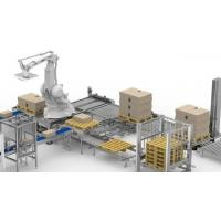 Buy cheap Flexible Robotic Palletizing System , Canned Food Industry Robotic Case Packer from wholesalers