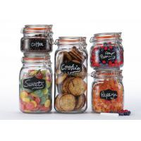 Buy cheap Clear glass canister set for kitchen storage sets with clamp lids for promotional and retailers product