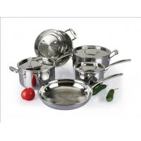 Buy cheap 5Pcs 3-ply stainless steel cookware set SHCY-3009 from wholesalers