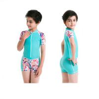 Buy cheap Kids lycra suit shorty swm suit for boy and girl UPF50+ rashguard from wholesalers