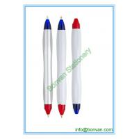 China two color ball pen,double color pens, can be customized for printing on sale