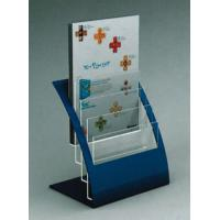 Buy cheap 4 Tier Brochure / Book Acrylic Stationery Holder With Bule Support product