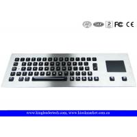 Buy cheap Illuminated industrial pc keyboard with integrated Touchpad , ruggedized keyboard from wholesalers