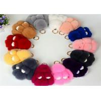 Buy cheap 13-20cm Fluffy Bunny Keychain With 100% PP Cotton Filling / Real Rabbit Fur from wholesalers