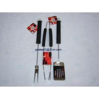 Buy cheap 3pcs black rubble handle & wire BBQ tools with head cards from wholesalers