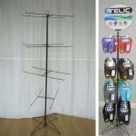 Buy cheap Slipper Flip Flops Metal Floor Stand Custom Made Shoe Spinner Display Rack from wholesalers