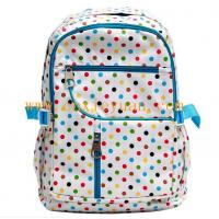 Buy cheap Color dots canvas school bag backpack from wholesalers