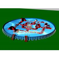Buy cheap Outdoor Portable Round Steel Frame Pool PVC Tarpaulin And Metal Frame product