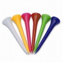 Buy cheap Plastic Golf Tee with SGS Certification, Available in Various Colors product