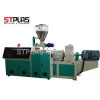 Buy cheap High Capacity Conical Twin Screw Plastic Extruder Machine For PVC Granulating from wholesalers