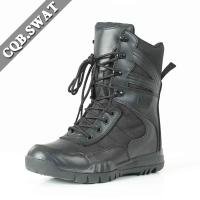 Buy cheap Foam Padded Collar Leather Military Boots Black Color Use for Pilots from wholesalers