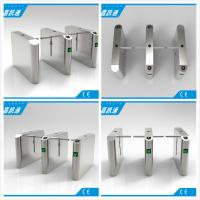 Buy cheap Office Entrance Stainless Steel Drop Arm Turnstile With 560mm Passage Width from wholesalers