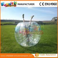 Buy cheap 1.2 M Diameter PVC Transparent Inflatable Bubble Soccer Human Zorb Ball from wholesalers