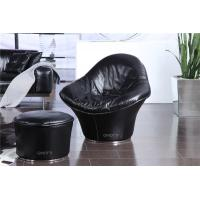 Buy cheap Luxury Modern Italian Leather Chair , Unique Black Upholstered Chairs , Flower chair designers from wholesalers