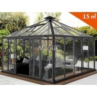 Buy cheap Aluminum Alloy Sunroom(sunshine house) Greenhouse Outdoor glass House for Villa, square winter house with diamond top from wholesalers