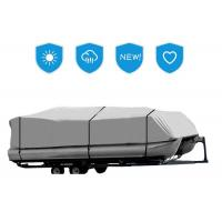 Buy cheap Three Sizes Pontoon Boat Mooring Cover , Boat Trailer Cover Gray Color 17-20 Ft from wholesalers