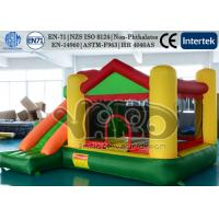 Buy cheap Commercial Jumping Inflatable Bounce House Slide Combo Green PVC With Happy Hop from wholesalers