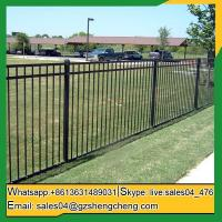 China Leonora Wrought iron tubular fencing pictures iron fences for sale on sale