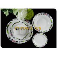 Ceramic TablewareRound Dinnerware Sets With Black Luxury Gracious Design