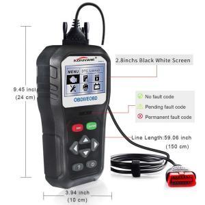 Buy cheap Stable Konnwei KW818 Eobd Obd2 Obdii Car Scanner Diagnostic 6 Languages product