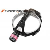 Buy cheap CREE T6 Outdoor Zoomable Led Headlamp, Water Resistant Bicycle Headlights from wholesalers