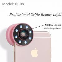 Buy cheap 8 LED Selfie Clip Lens Wide / Micro Angle Ring Flash Selfie PC ABS Material from wholesalers